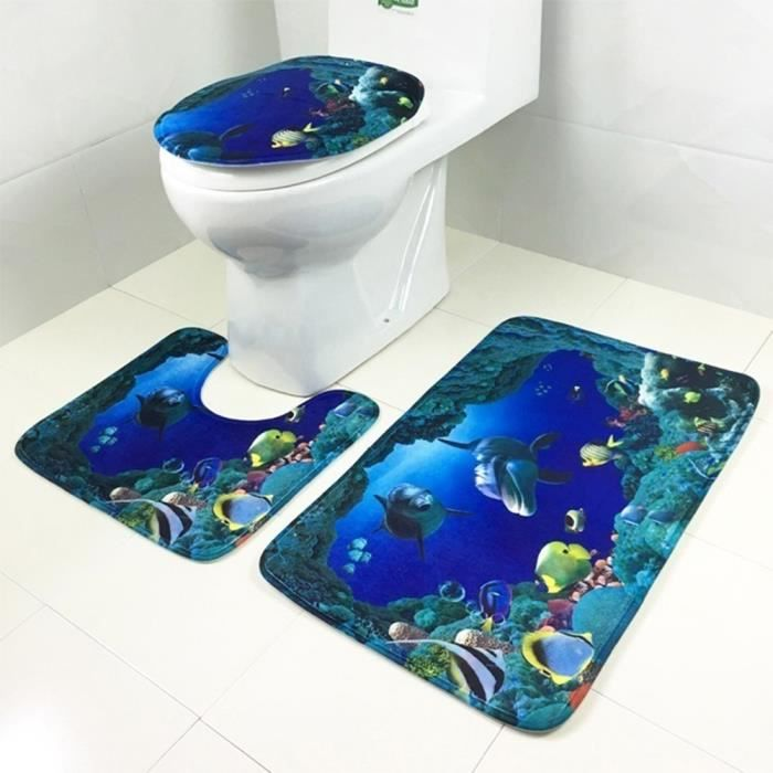 Tapis salle de bain dauphin - Achat / Vente pas cher