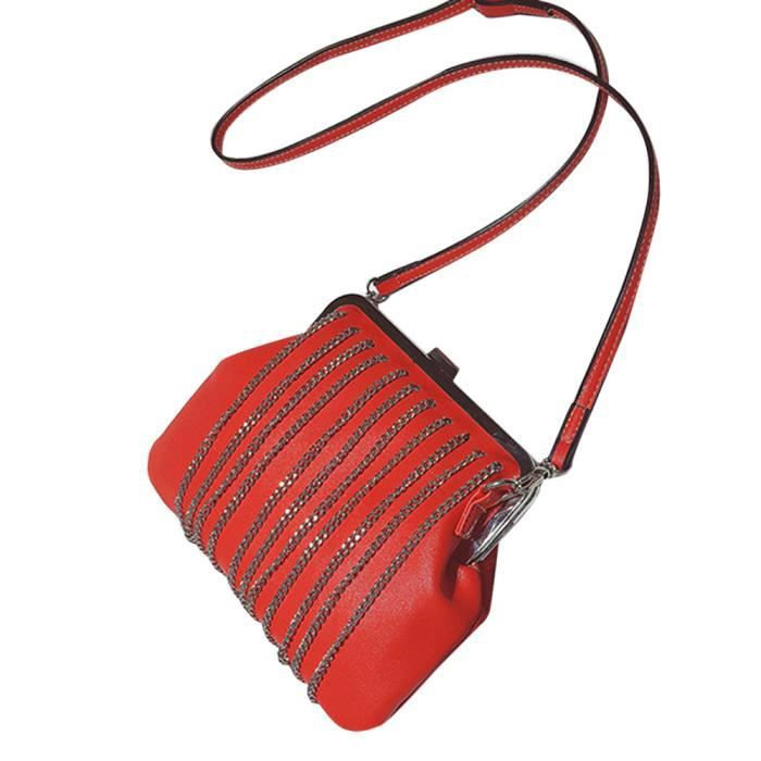 YNZ09148275@Mode femmes Sac à bandoulière franges Sac  Messenger Satchel tassel Loisirs Créatif populaire Rouge®Estimetown