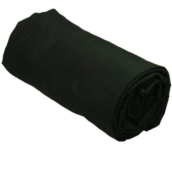drap housse 140x200 noir Drap housse 140x200 cm 100% percale couleur NOIR gamme SENSEI  drap housse 140x200 noir