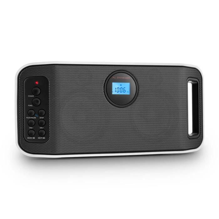Auna Rigid Box BT Enceinte Bluetooth Portable Avec Tuner FM - Enceinte port usb