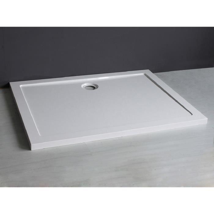 receveur de douche extra plat 120x90 cm smc achat. Black Bedroom Furniture Sets. Home Design Ideas