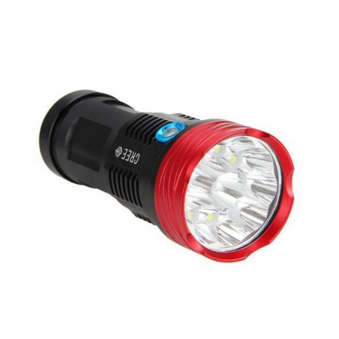Puissante Lampe Torche Sky Ray King 11000 Lumens Led 9x Cree Xm L T6