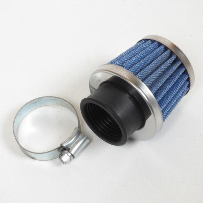 filtre air cornet kyoto chrom bleu diam tre 32mm scooter moto 50 boite achat vente. Black Bedroom Furniture Sets. Home Design Ideas