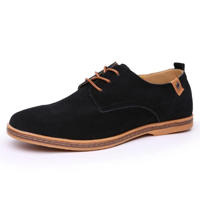 De En Sport Chaussures Noir Cuir Cachemire OZatxqO