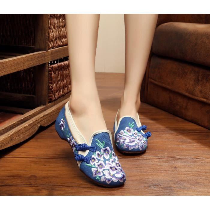Fille Chaussures Slip En on Femme Toile PqcROI