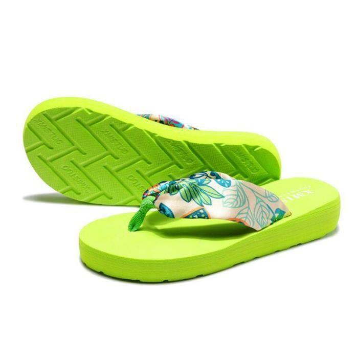 Tong femme Semelle plate pour l'été en plage Flip Flop ®KIANII