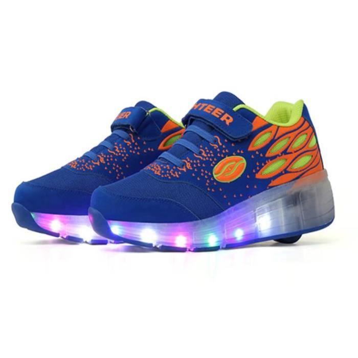Nouvelle arrivée Chaussures LED Design de mode Roue simple avec interrupteur Chaussures enfants à chaussures ultra légères
