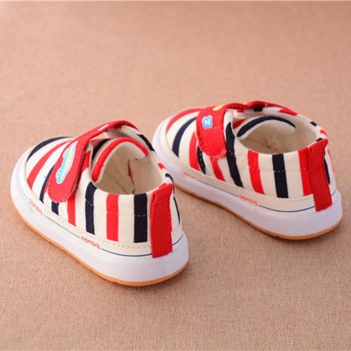 BOTTE Nouveau né nourrisson bébé filles stripe stripe stripe crèche chaussures à 72c18a