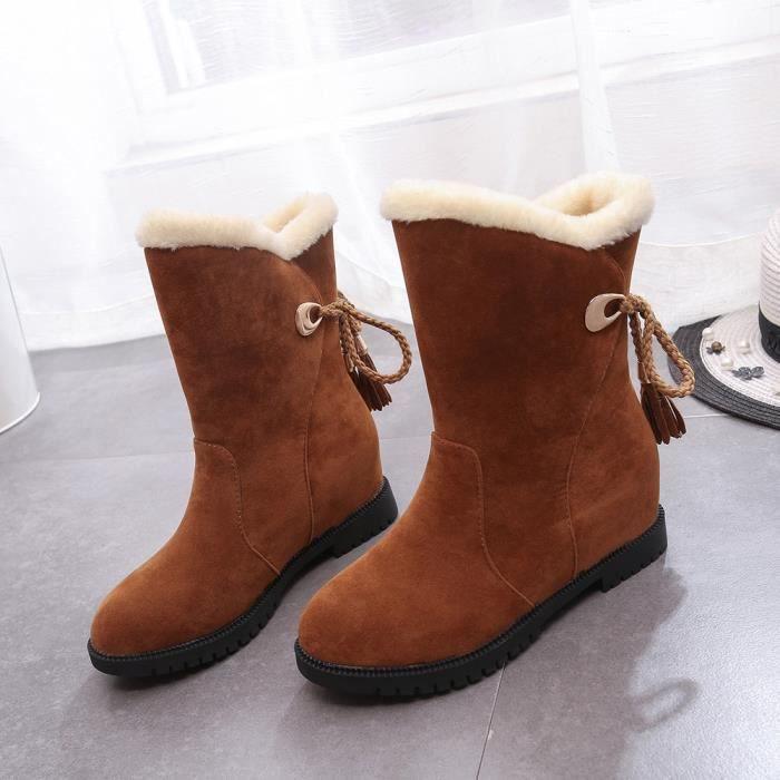 Bottes de neige Bottines d hiver Femme Chaussures Talons Bottes d hiver  Chaussures de mode wei2015 0df089705a72
