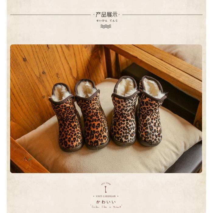 Bottes en coton léopard pour enfants hiver bottes en coton chaud skj6ZvPwP