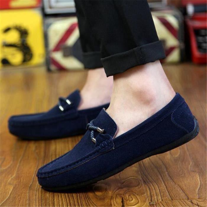Mocassins Hommes Printemps Ete Leger Mode Chaussures XX-XZ077Gris43 x87lYS