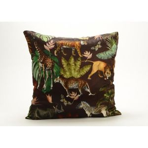 COUSSIN Coussin animaux jungle 45x45