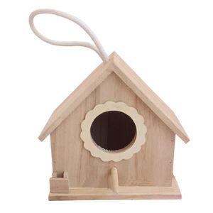 VOLIÈRE - CAGE OISEAU Cabane d'oiseaux en bois de travail manuel belle m