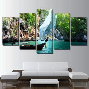 TABLEAU - TOILE Imprimé 5 panneaux toile peinture nature Canyon ba