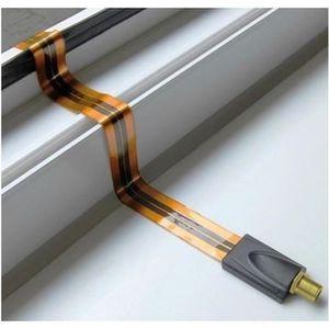 ANTENNE RATEAU Câble Coaxial Plat Passe Fenêtre Gold Longueur 28
