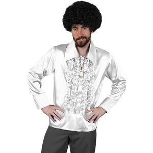 Disco Jabot Blanc Homme Chemise À sdCxQthr