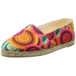 MOCASSIN Desigual Femmes Plan d'Shoes_esparto, 3036 Rojo Cl
