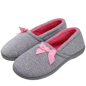 a0c6989cfbefc CHAUSSON - PANTOUFLE Femmes knited chaussons en coton Lavable à la mach