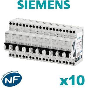 DISJONCTEUR Lot de 10 Disjoncteurs électriques phase + neutre