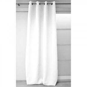 rideaux blanc achat vente rideaux blanc pas cher cdiscount. Black Bedroom Furniture Sets. Home Design Ideas