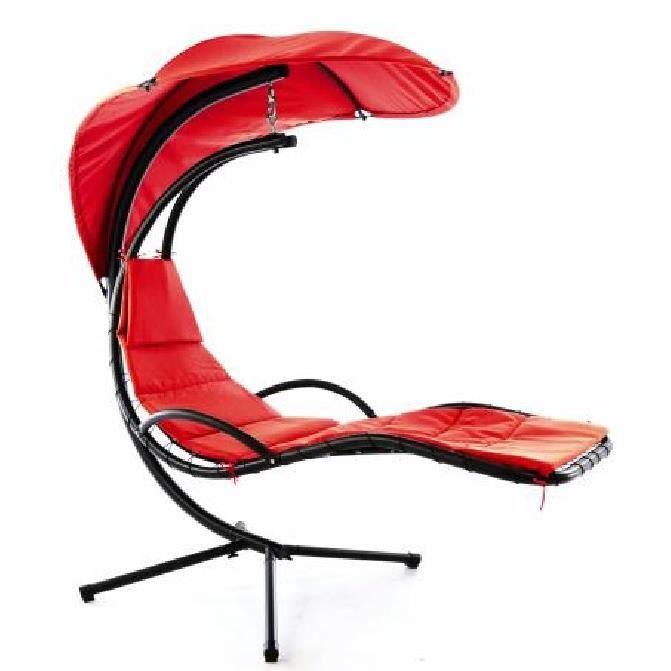 Bain Hamac De Pare Soleil Chaise Rouge Transat Longue Avec iTwOkXuPZ