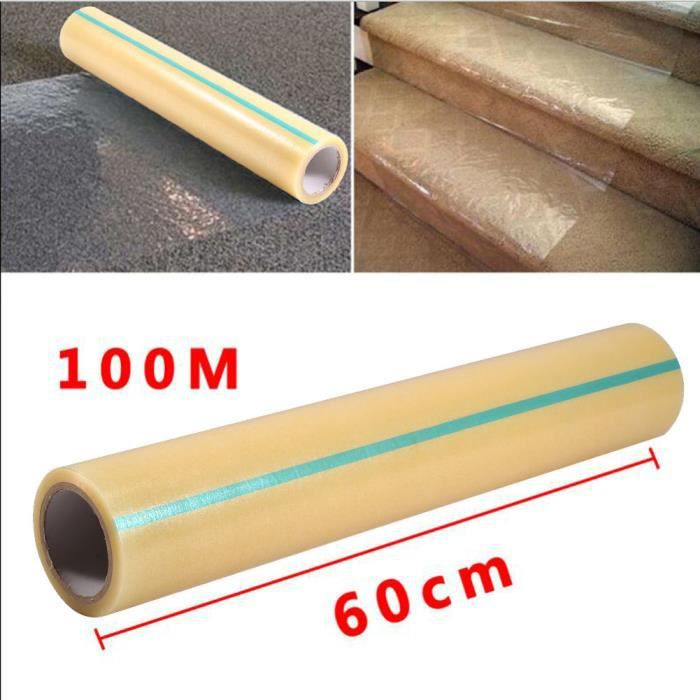 60cm 100m anti poussi re pe film tapis plancher protecteur diy couverture roulante achat. Black Bedroom Furniture Sets. Home Design Ideas