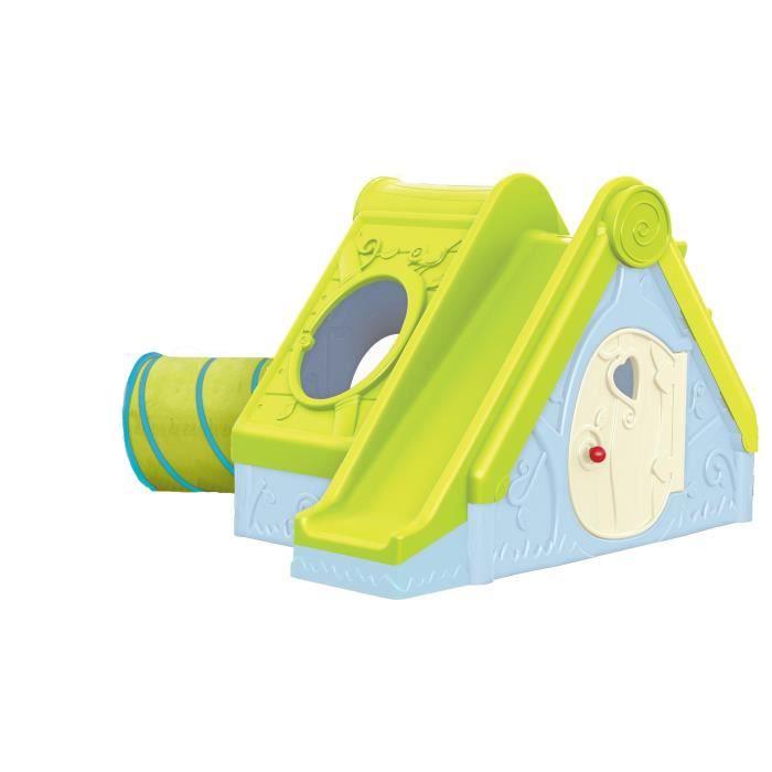 maisonnette enfants toboggan achat vente jeux et jouets pas chers. Black Bedroom Furniture Sets. Home Design Ideas