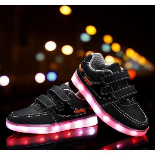 Sneakers Boy enfants / filles de chargement plat lumière lumineux colorés chaussures de lumières LED Enfants Casual étudiants plates