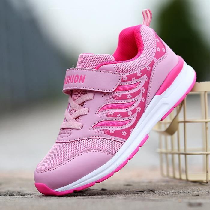 CHAUSSURES DE VILLE Sneakers fille mode casual chaussures princesse chaussures flocons de neige chaussures de fille la série rose QByMTfb3