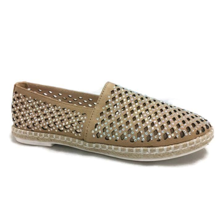 Lauren Embellished Slip-on Espadrille Close Toe Flats UD4F2 Taille-41