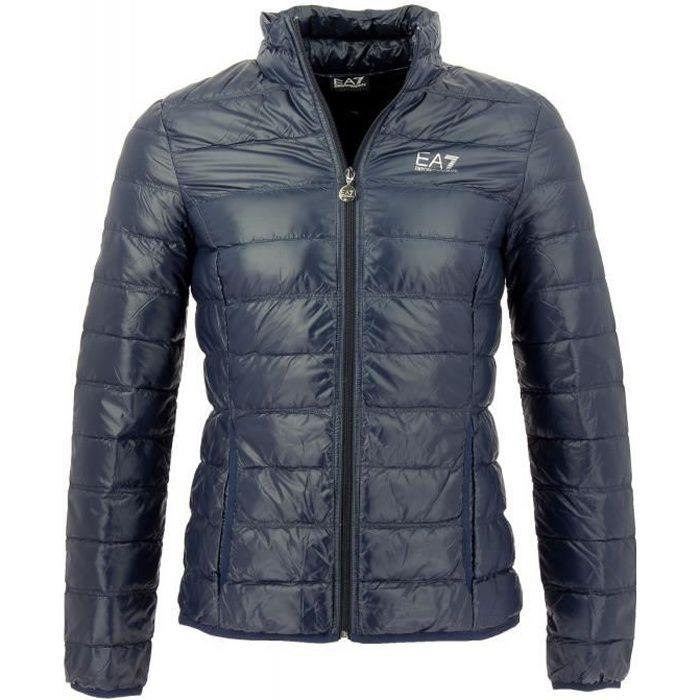 Doudoune EA7 Down Jacket Emporio Armani Bleu Bleu - Achat   Vente ... 01a8beaa502