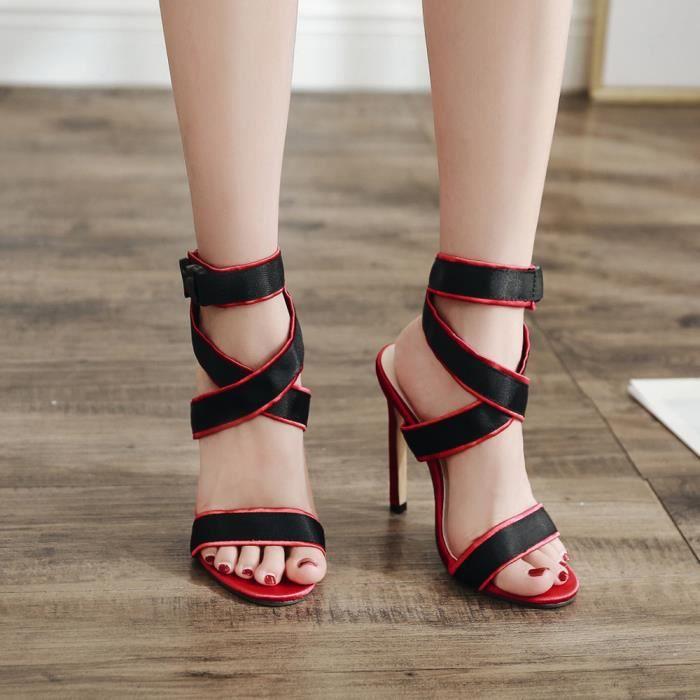 Bandage D'été De Fête Sandales Femmes Mode Sexy Mariage Chaussures 3FJTlK1c