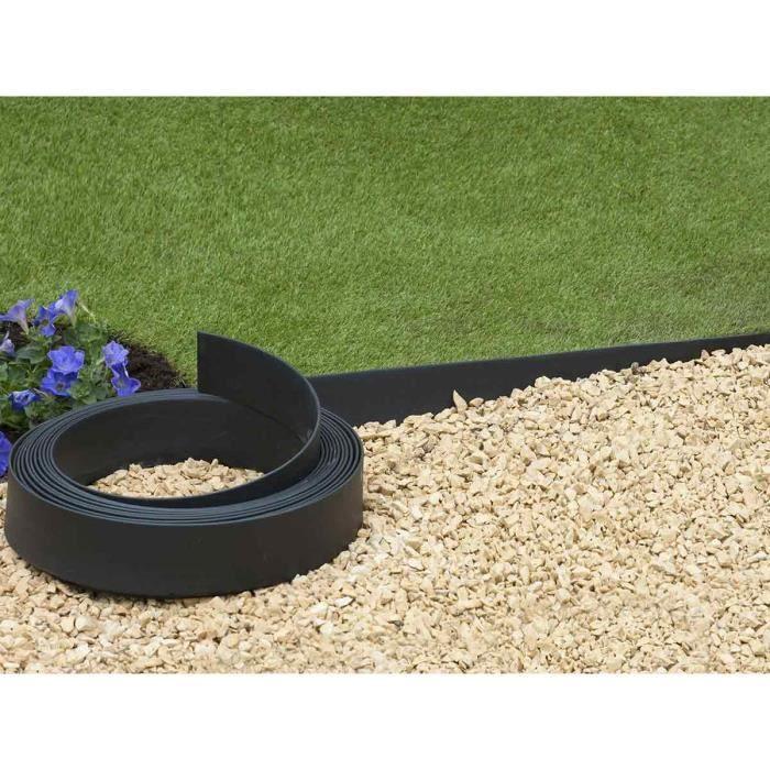 Bordure en polyur thane pour jardin et bassin noir 5 m x h 9 cm achat vente bordure for Bassin de jardin d occasion