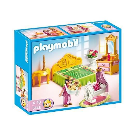 Playmobil 5146 chambre de reine avec berceau achat vente univers miniature cdiscount - Chambre princesse playmobil ...
