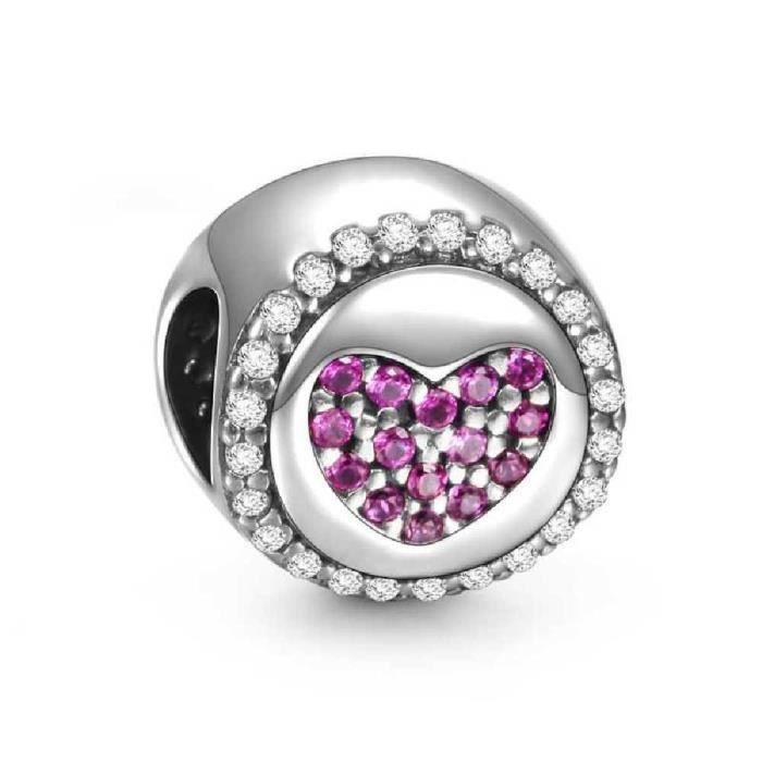 Soufeel Femmes 925 rose en argent sterling amour Charm Bracelet européen Fits WP3I4