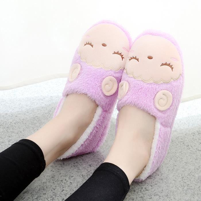 amp; Automne Beau Femmes Pantoufles 39; Chaussures Lune hiver Skid Chaussures Bas intérieur cachemire Coton coton souple Bottes qqwxfAB6FT