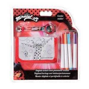 MIRACULOUS Set Portefeuille ? colorier + montre - Bracelet plastique 21 cm