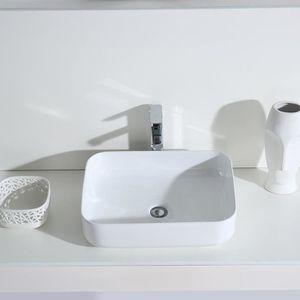 LAVABO - VASQUE Eridanus Série Keiko, Vasque à Poser Rectangulaire