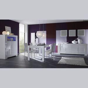 SALLE À MANGER  Salle à manger complète design blanc laqué LIMA 16