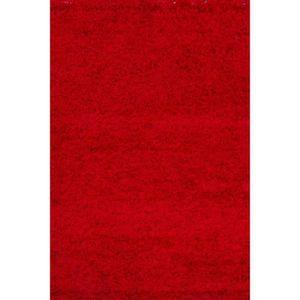 TAPIS RELAX Tapis de salon Shaggy rouge 120x170 cm