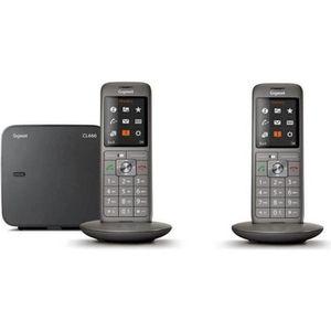 Gigaset CL660A Duo Anthracite - Téléphone DECT - Pack Duo ... 4dfc5eb0ec22