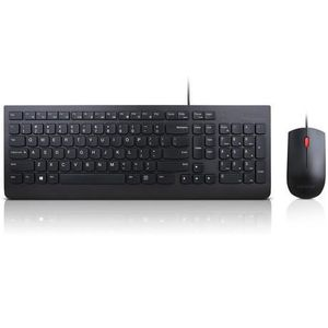 SOURIS Lenovo Essential Wired Keyboard and Mouse Combo -