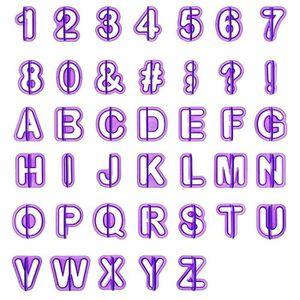 EMPORTE-PIÈCE  LIHAO 40pcs Emporte Pièce Lettres Alphabet Nombre