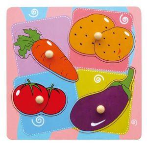 PUZZLE SAPIN MALIN Encastrement 4 légumes - À partir de 1