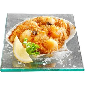 POISSON CUISINÉ Coquilles de noix de Saint-Jacques surgelées à la