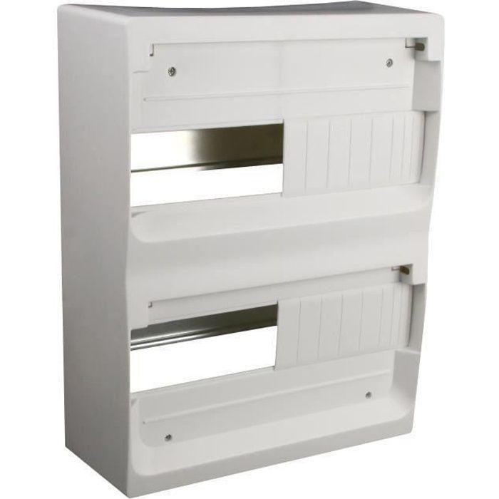 ZENITECH Coffret électrique nu à équiper 2 rangées 26 modules blanc