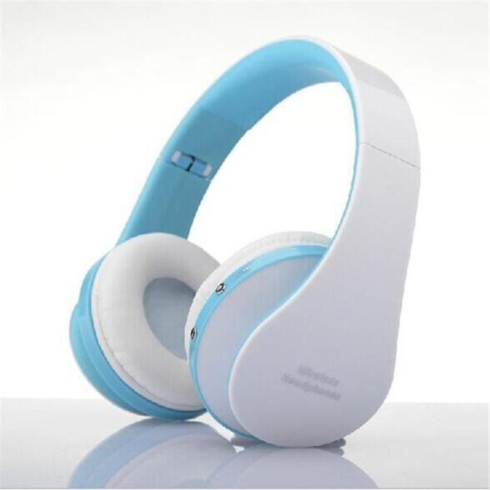 Casque Audio Cool Bluetooth Suppression Du Bruit Sans Fil Avec Microphone Bleu