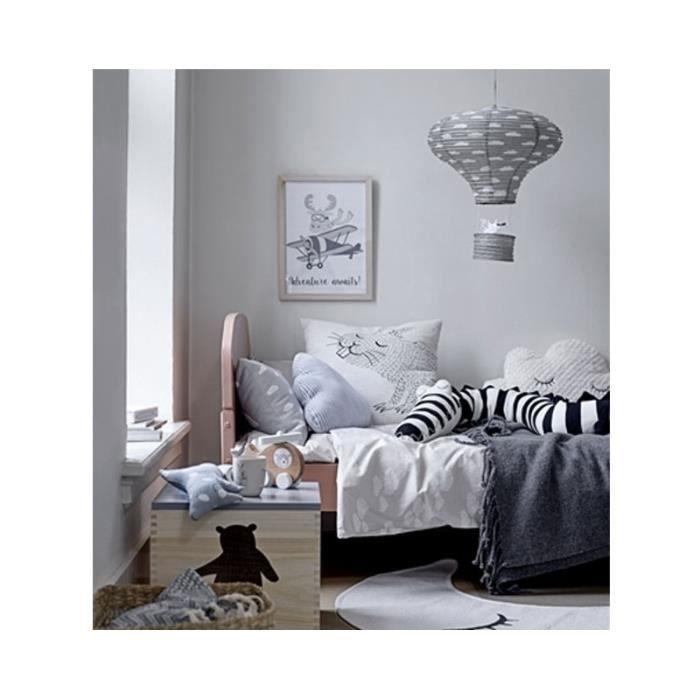 abat jour suspension lanterne chambre enfant en papier gris 0 000000 achat vente abat jour. Black Bedroom Furniture Sets. Home Design Ideas