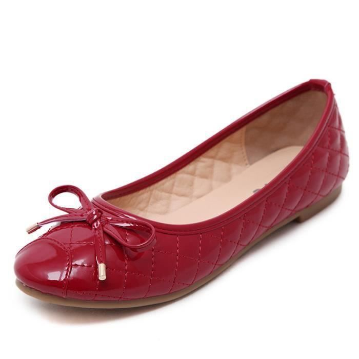 Mme peu Joker fond plat de chaussures Jaune