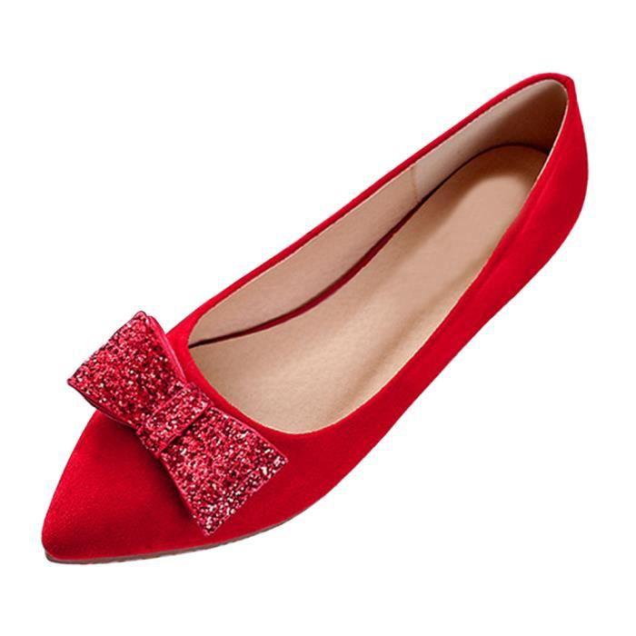 Plat Printemps Chaussures Plates Bout Talon Femmes Pointu Ballerines VSUpGzqM